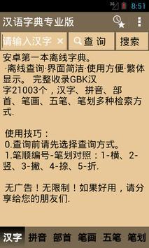 汉语字典专业版 poster