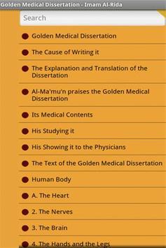 Golden Medical Dissertation apk screenshot