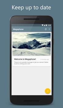 Megaphone poster