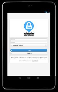 whistle.im apk screenshot