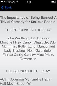 Importance of Being Earnest apk screenshot