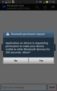 FreeBluetoothChat apk screenshot