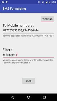 SMS Forwarding poster