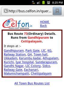 Bus Route Finder Coimbatore apk screenshot