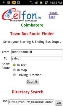Bus Route Finder Coimbatore poster