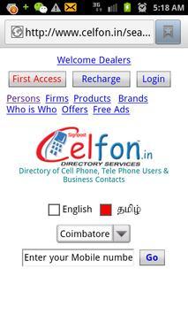 Celfon Directory poster