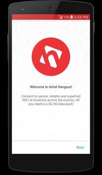 Airtel Hangout - Seamless WiFi poster