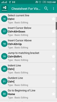 Cheatsheet For Visual Studio apk screenshot