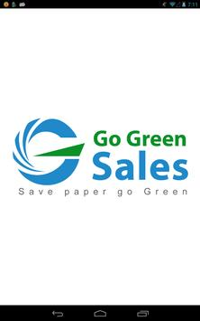 Go Green Sales poster