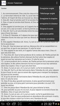 The Holy Bible in French apk screenshot