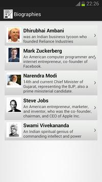 Famous Quotes & Biographies apk screenshot