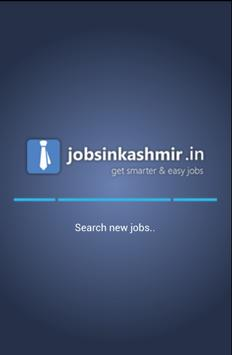 Jobs In Kashmir poster
