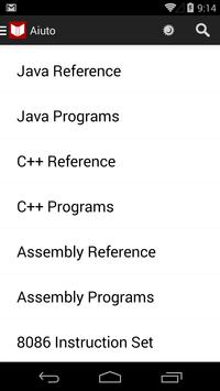 C++, Java Programs & Reference poster