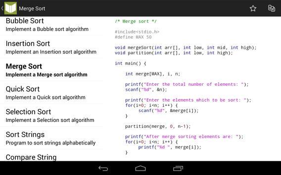 C Programs and Reference apk screenshot