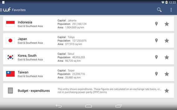 World Factbook apk screenshot