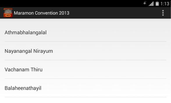 Maramon Convention 2013 apk screenshot