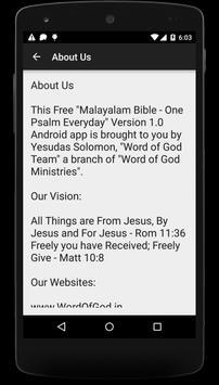 Malayalam Bible Reading 1 Year apk screenshot