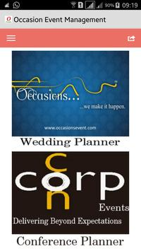 Occasion Event Management poster