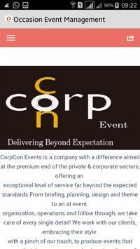 Occasion Event Management apk screenshot