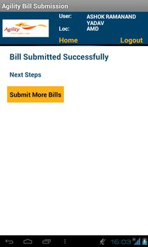 Agility Bill Submission apk screenshot