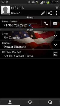 RocketDial Theme Soccer USA apk screenshot