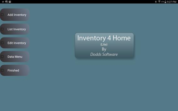 Inventory4Home(Tablet-Lite) poster