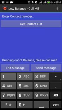 Low Balance - Call Me Please!! apk screenshot