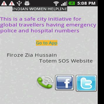Women Safety Totem SOS help apk screenshot