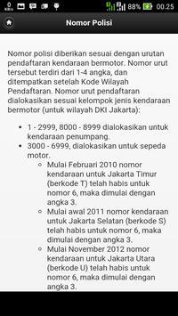 Nomor Polisi Kendaraan apk screenshot