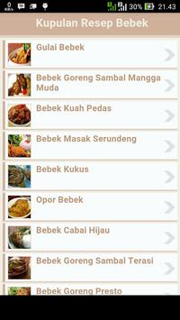 Kupulan Resep Bebek apk screenshot
