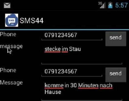 SMS44 apk screenshot