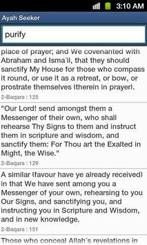 Ayah Seeker: Search in Quran poster