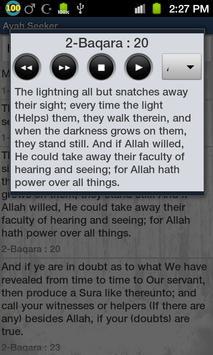 Ayah Seeker: Search in Quran apk screenshot