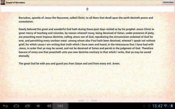 Gospel of Barnabas: Bible apk screenshot