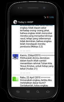 Today`s HKBP apk screenshot