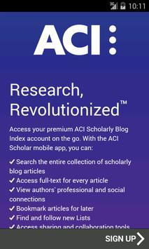 ACI Scholarly Blog Index poster