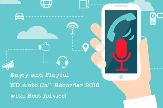 HD Auto Call Recorder 2016 Tip poster