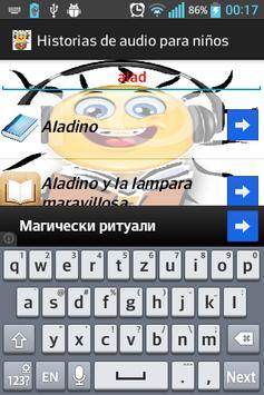 Historias de audio para niños apk screenshot
