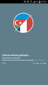 French-Azerbaijani dictionary poster