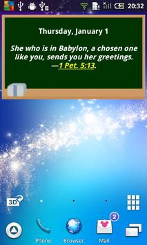 Daily Bible Text 2015 poster