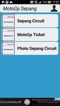 MotoGP Sepang Information poster