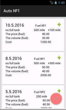 Fuel manager, calculator cost poster