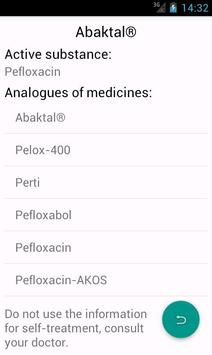 Medicaments - generics & drugs apk screenshot