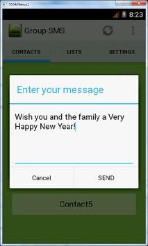 Group SMS apk screenshot