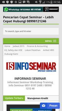 Info Seminar Training apk screenshot
