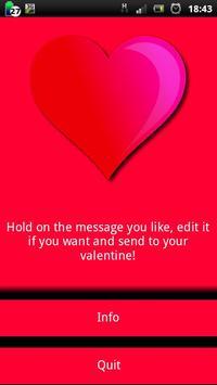 Valentine SMS (EN) poster