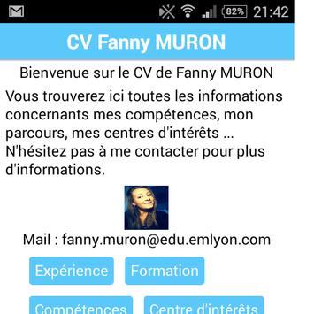 Fanny Muron CV CODAPPS apk screenshot