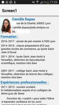 Camille Dupau CV Codapps poster