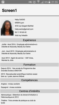 Haby Sacko CV for Codapps apk screenshot