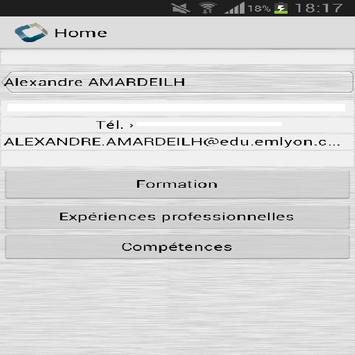 Alexandre Amardeilh CV Codapps apk screenshot
